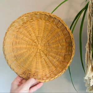 Circular Wicker Rattan Boho Basket Wall Decor